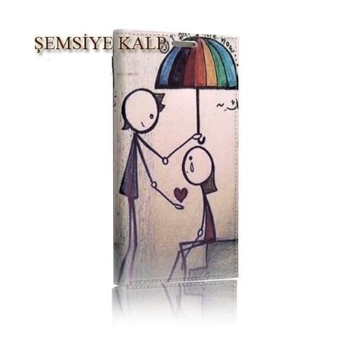 Teleplus Samsung Galaxy E7 Mıknatıslı Desenli Kılıf Şemsiye