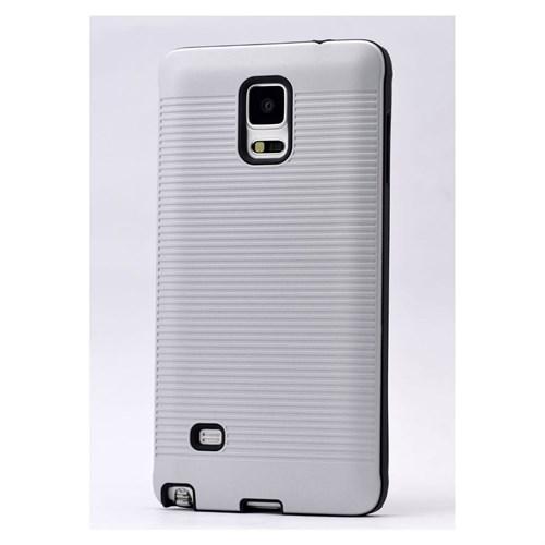 Teleplus Galaxy Note 4 Yüksek Kaliteli Silikon Yumuşak Kılıf Beyaz