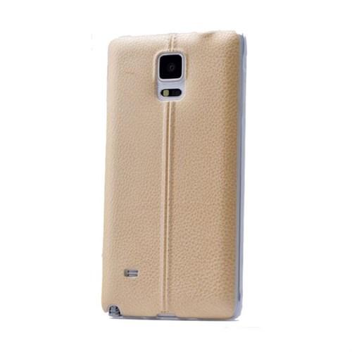 Teleplus Samsung Galaxy Note 4 Dikişli Silikon Kılıf Sarı