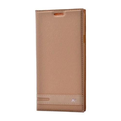Teleplus Samsung Galaxy A7 2016 Mıknatıslı Flip Cover Kılıf Sarı