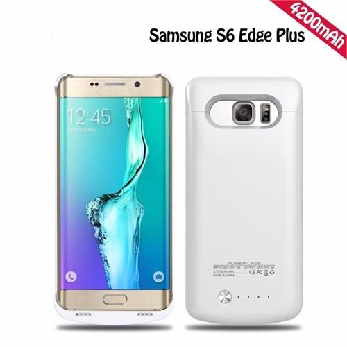 Teleplus Samsung Galaxy S6 Edge Plus Şarjlı Kılıf 4200Mah Beyaz