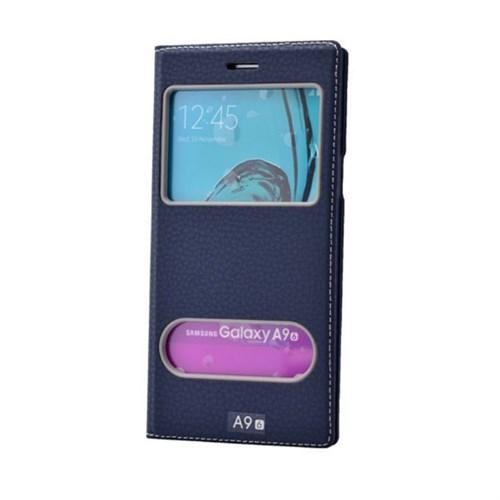 Teleplus Samsung Galaxy A9 Lux Pencereli Kılıf Lacivert