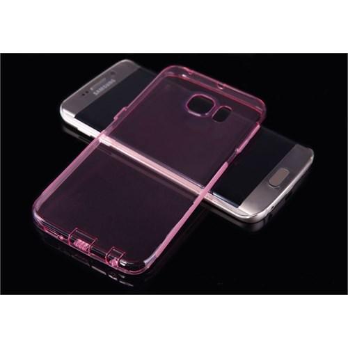 Teleplus Samsung Galaxy S6 Edge Silikon Kılıf Pembe