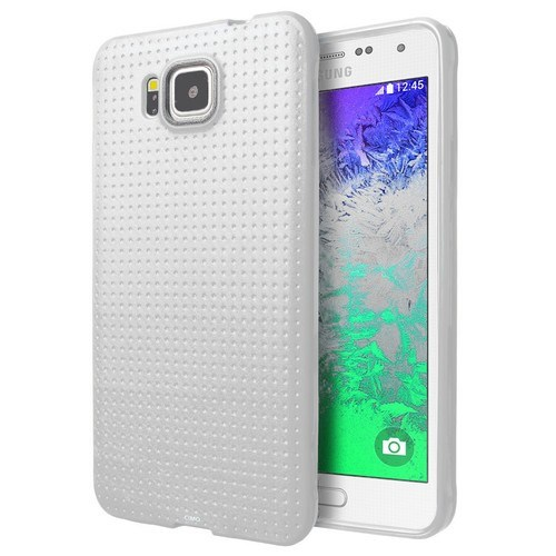 Teleplus Samsung Galaxy Alpha Silikon Kılıf Beyaz