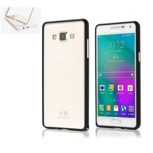 Teleplus Samsung Galaxy A3 Metal Çerçeveli Kılıf Siyah
