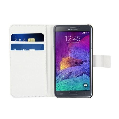 Teleplus Samsung Galaxy Note 4 Cüzdanı Uunutturan Kılıf Beyaz