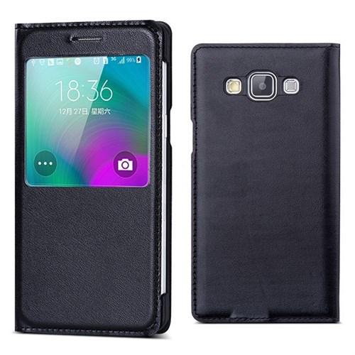 Teleplus Samsung Galaxy A7 Pencereli Kılıf Siyah