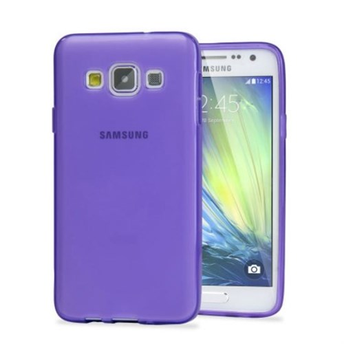 Teleplus Samsung Galaxy E5 Silikon Kılıf Mor