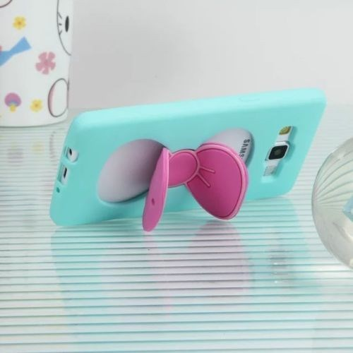 Teleplus Samsung Galaxy A7 Papatya Silikon Kılıf Turkuaz