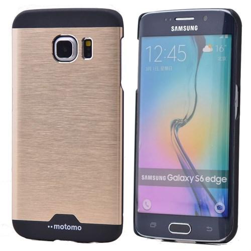 Teleplus Samsung Galaxy S6 Metal Rubber Kılıf Tam Koruma Sarı
