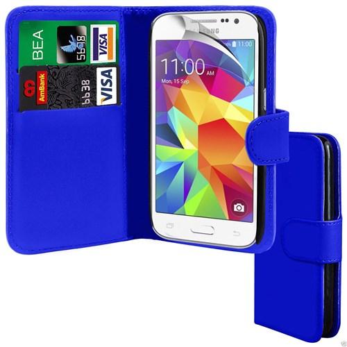 Teleplus Samsung Core Prime Cüzdanlı Kılıf Mavi