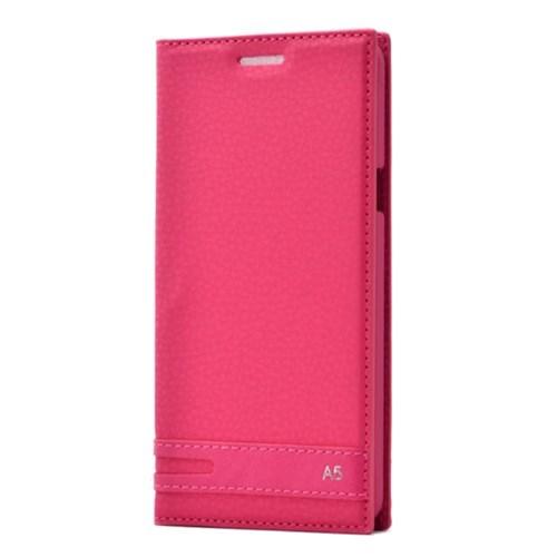 Teleplus Samsung Galaxy A5 2016 Mıknatıslı Flip Cover Kılıf Pembe