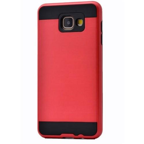 Teleplus Galaxy A3 2016 Çift Katmanlı Kapak Kılıf Kırmızı