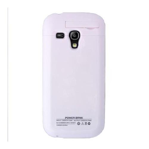 Teleplus Samsung Galaxy S3 Mini Kapaklı Şarjlı Kılıf Beyaz