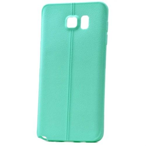 Teleplus Samsung Galaxy Note 5 Deri Görünümlü Silikon Kılıf Turkuaz