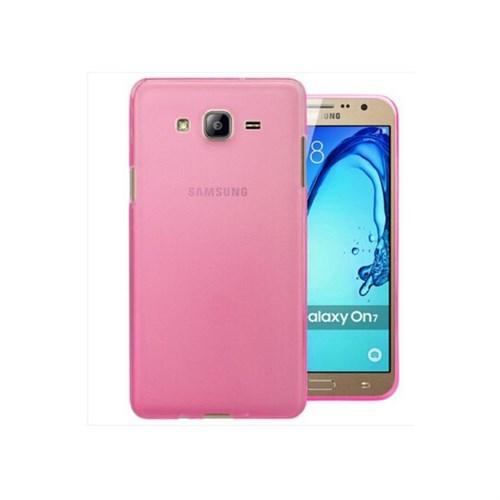Teleplus Samsung Galaxy On7 Tam Korumalı Silikon Kılıf Pembe