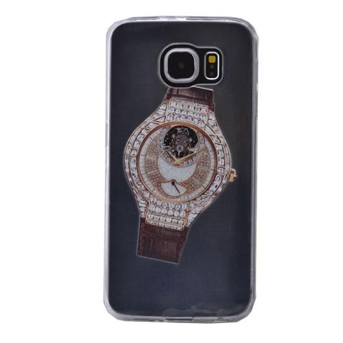Teleplus Samsung Galaxy S6 Edge Plus Saat Desenli Silikon Kılıf 7