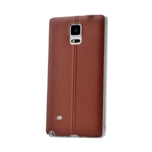 Teleplus Samsung Galaxy Note 3 Dikişli Silikon Kılıf Kahve