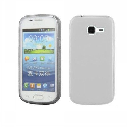 Teleplus Samsung S7390 Galaxy Trend Lite Silikon Kılıf Kapak Şeffaf