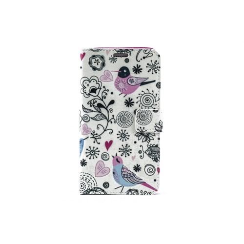 Teleplus Samsung Galaxy Note 3 Kuş Resimli Cüzdanlı Kılıf
