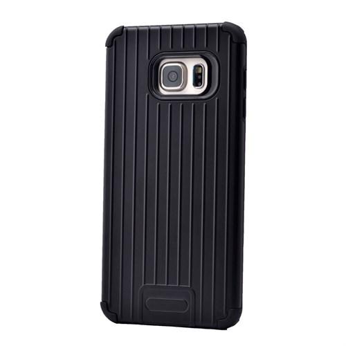 Teleplus Samsung Galaxy S6 Edge Plus Tam Korumalı Rubber Kılıf Siyah