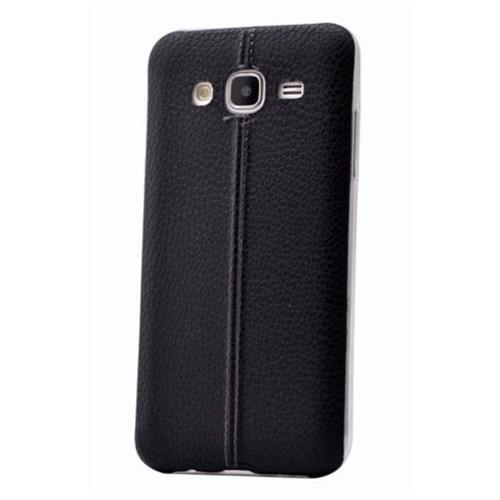 Teleplus Samsung Galaxy J2 Dikişli Silikon Kılıf Siyah