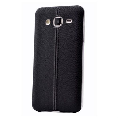 Teleplus Samsung Galaxy J7 Dikişli Silikon Kılıf Siyah