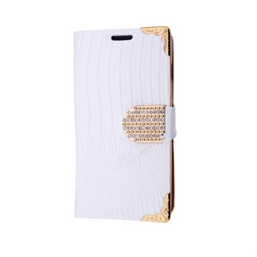 Teleplus Samsung Galaxy A7 Özel Taşlı Kılıf Beyaz