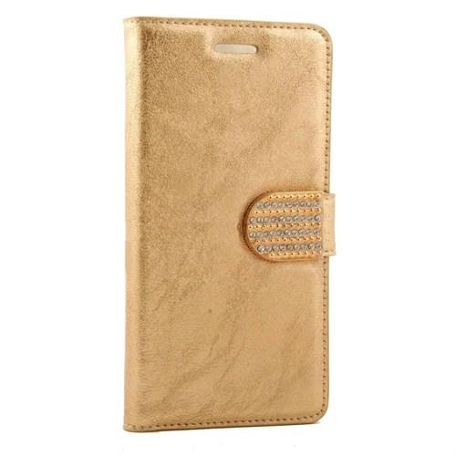 Teleplus Samsung Galaxy A8 Taşlı Kılıf Sarı