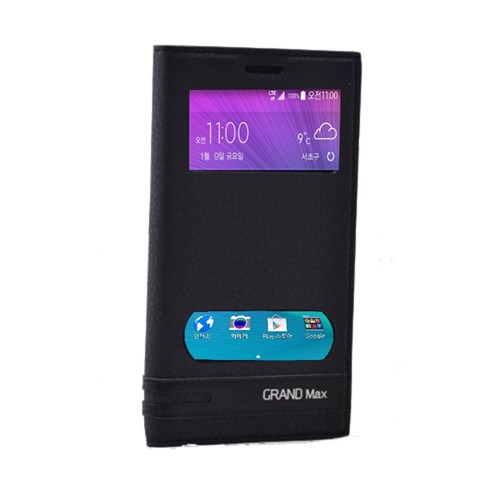 Teleplus Samsung Galaxy Grand Max Mıknatıslı Pencereli Kılıf Siyah