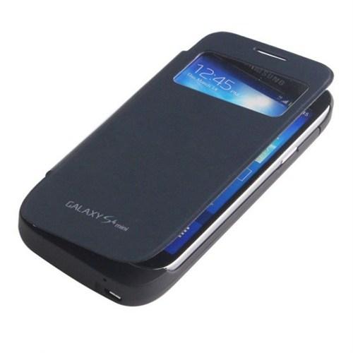 Teleplus Samsung Galaxy S4 Mini Siyah Pencereli Şarjlı Kılıf