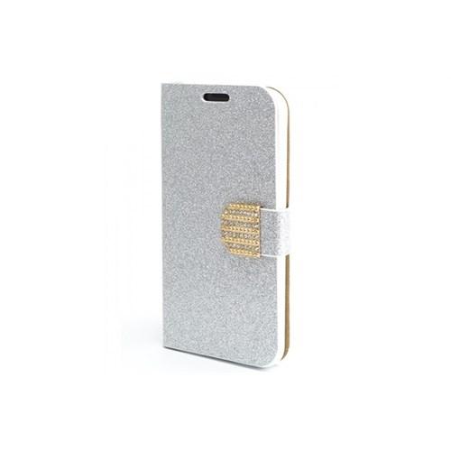 Teleplus Samsung Galaxy S5 Simli Taşlı Kılıf Gümüş