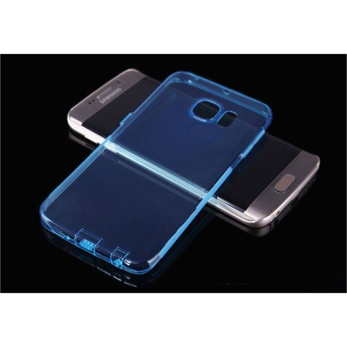 Teleplus Samsung Galaxy S6 Edge Silikon Kılıf Mavi