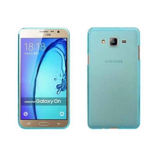 Teleplus Samsung Galaxy On5 Tam Korumalı Silikon Kılıf Mavi
