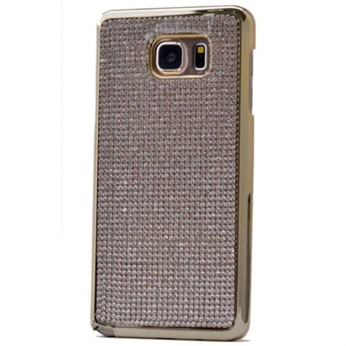 Teleplus Samsung Galaxy S6 Edge Taşlı Kapak Kılıf Gri