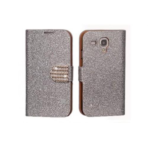 Teleplus Samsung S3 Mini Taşlı Cüzdanlı Kılıf Beyaz