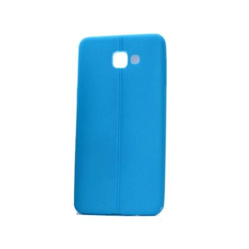 Teleplus Samsung Galaxy A3 2016 Deri Görünümlü Silikon Kılıf Mavi