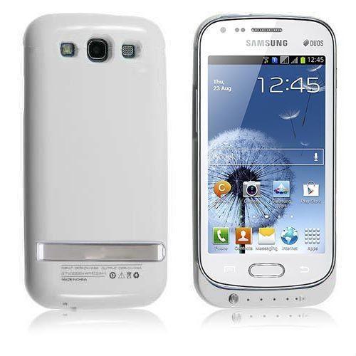 Teleplus Samsung İ9082 Galaxy Grand Duos Şarjlı Kılıf Beyaz