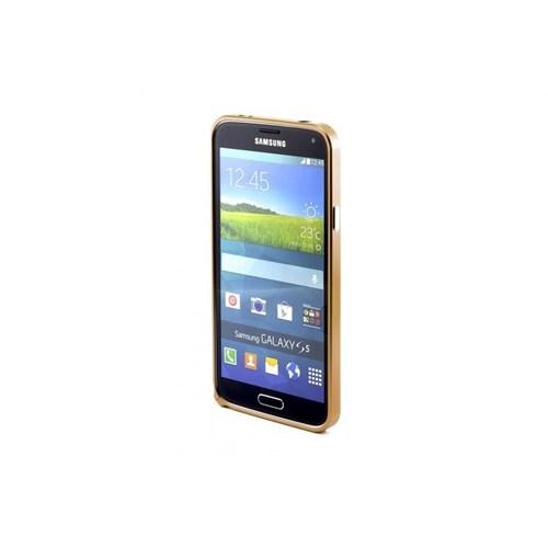Teleplus Samsung Galaxy S5 Metal Çerçeve Kenarlık Altın Renk