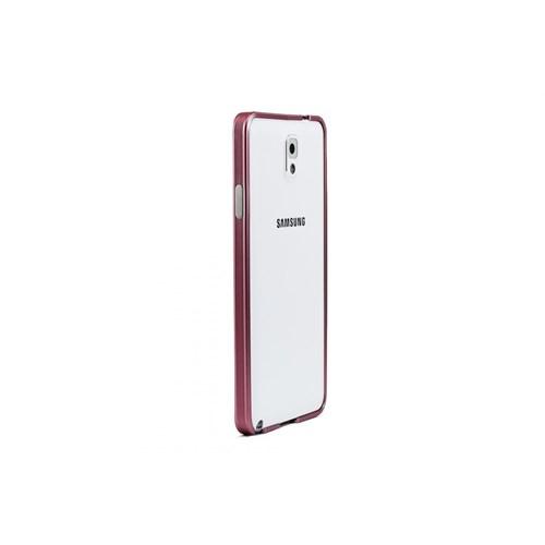 Teleplus Samsung Note 3 Metal Çerçeve Kılıf Pembe Renk