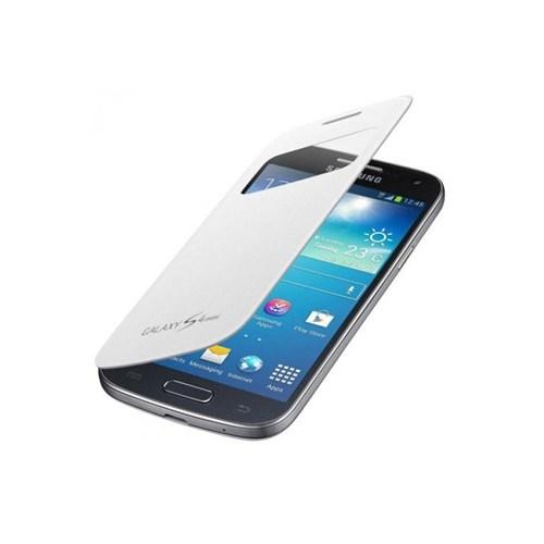Teleplus Samsung Galaxy S4 Mini Pencereli Kılıf Beyaz