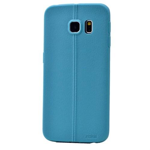 Teleplus Samsung Galaxy S6 Edge Deri Görünümlü Silikon Kılıf