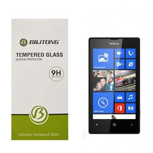 Bilitong Nokia Lumia 520 Ekran Koruyucu Temperli Cam