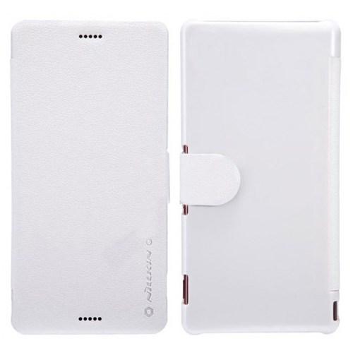 Cover Me Sony Xperia Z3 Compact Kılıf Nillkin Kapaklı Beyaz