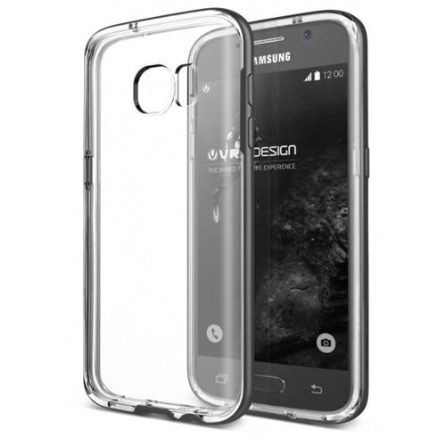 Verus Samsung Galaxy S7 Edge Kılıf Crystal Bumper Steel Silver