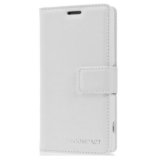 Cover Me Sony Xperia Z3 Compact Kılıf Deamond Cüzdan Kapaklı Beyaz