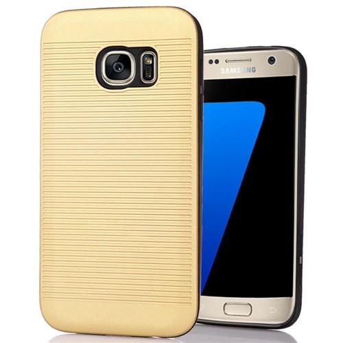 Cover Me Samsung Galaxy S7 Edge Kılıf Kauçuk Silikon Koruma Altın