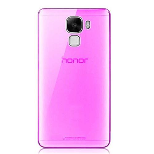 CoverZone Huawei Honor 7 Kılıf 0.3 Mm İnce Silikon Pembe