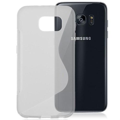 CoverZone Samsung Galaxy S7 Edge Kılıf Sline Dizayn Silikon Şeffaf