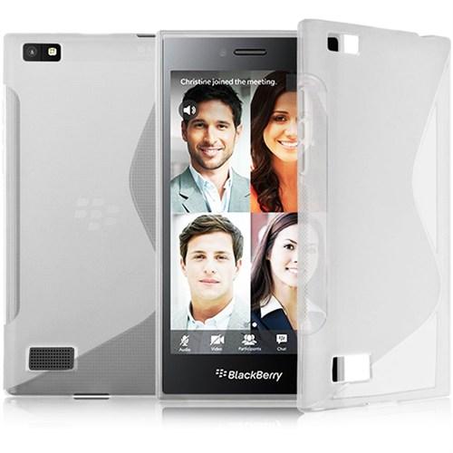 CoverZone Blackberry Z3 Kılıf Sline Dizayn Silikon Şeffaf